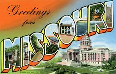 Greetings from Missouri - Large Letter Postcard by Shook Photos, via Flickr
