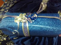 Sparkling blue present for someone...