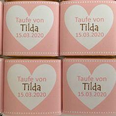 Gastgeschenk Taufe Schokolade personalisiert | Etsy Container, Etsy, Chocolate, Handmade