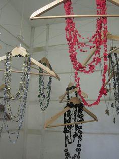 Nice way to hand long jewellery like beaded chains