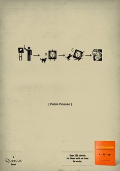 Quercus Books | H-57 Creative Station | Life in five seconds, Pablo Picasso | WE LOVE AD
