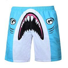 Surf Shorts, Jogger Shorts, Print Shorts, Joggers, Tiger Painting, Cute Shark, Beach Pants, Man Swimming, Summer Shorts
