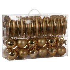 gold bauble set 100 piece