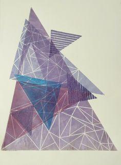 Linocut by Nina Gregier, via Behance