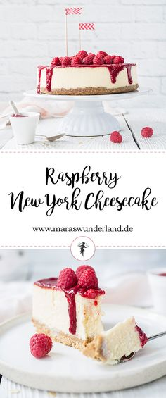 Raspberry New York Cheesecake with healthy crust • from Maras Wunderland