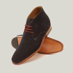 Gordon Bros Navy suede shoes