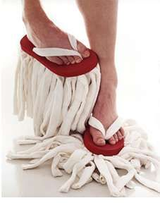 flip flop mop...flip flops + mop head... why did I not think of this?