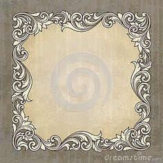 Vector Grunge Border | Vector retro border frame at grunge background Stock Images