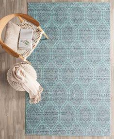 Mod Watercolor Carpet | Alpine Blue & Mauve Rugs - Safavieh