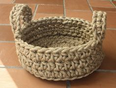 Easy Crochet Rope Basket PATTERN Macrame Jute Various by Dianasgrl
