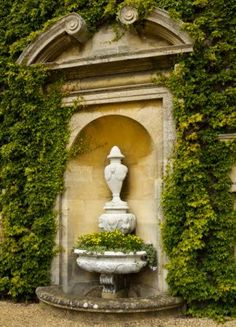 Urn in the Courtyard at Belton House, Lincolnshire...