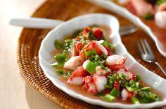 タコのホットサラダのレシピ・作り方 - 簡単プロの料理レシピ | E・レシピ