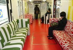 #IKEA guerilla marketing on the subway - wouldn't mind taking a ride on this!