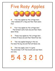 Click to print the Preschool Apple Activity page
