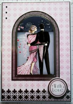 Hunkydory art Deco card with love