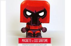 X-Men - Magneto Mini Paper Toy - by Gus Santome -- Gus Santome presents his new model of X-Men series: Cyclops, in a nice Mini Paper Toy style.