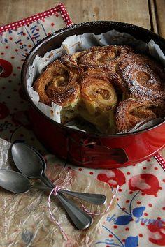 rolls063 Pâte à croissants à la cannelle et compote de pommes caramélisées
