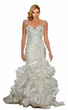 ZHUOLAN White Sweetheart Mermaid Gown in Silk Taffeta Wedding Dress