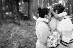 Golden Gate Bridge and Presidio Lovers Lane Woodline Family Session by San Francisco Gay and Lesbian Family Photographer Cristin More Photography