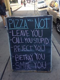 pizza will not ...