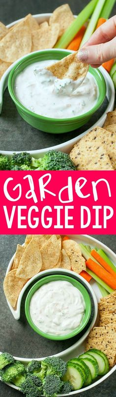 Skip the store bought tub; you'll want to dunk everything in sight into this tasty homemade veggie dip!