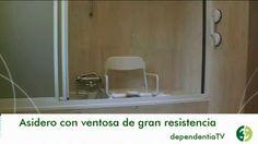 Asiento giratorio para baño adaptado a personas mayores y dependientes.