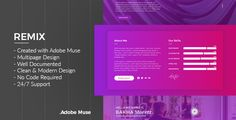 Remix - Multipurpose Creative Adobe Muse Template - Muse Templates