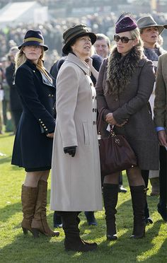 - Photo - Zara Phillips, Princess Anne, Autumn Phillips, and the Duchess of Cornwall attend ladies day at Cheltenham Races keeping the cold out in gorgeous wool coats Camilla Duchess Of Cornwall, Duchess Kate, Zara Phillips, Peter Phillips, Princesa Anne, Autumn Phillips, British Family, Up Skirt Pics, Royal Clothing