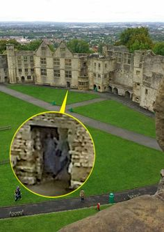 A woman says she is now 'a believer' after spotting a ghostly figure in a photograph taken at Dudley Castle.  Amy Harper, from Birmingham, West Midlands, took several pictures on her Samsung Galaxy camera phone while visiting the Norman castle with her husband, Dean, and three children.