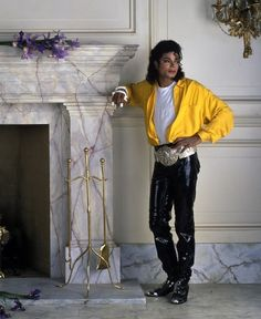 "Michael Jackson from the ""Liberian Girl"" cover art."