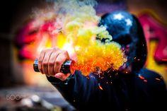 L I G H T  I T  U P - Andrew lighting up a smoke grenade