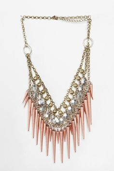 "UO Cascade Necklace -- ""...the perfect color and matches almost any outfit. It's badass..."""