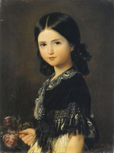 history-of-fashion: 1842 Federico de Madrazo y Kuntz - Portrait of Beatrice Barba y Troyse