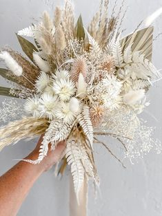 Small Bridal Bouquets, Boho Wedding Bouquet, Bridesmaid Bouquet, Floral Wedding, Feather Bouquet, Dried Flower Bouquet, Dried Flowers, Boho Flowers, Beach Wedding Flowers