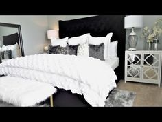 (2) NEW! Luxury Bedroom Makeover Tour & Ideas - YouTube