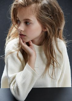Chunky winter white sweater from Caramel baby and Child kidswear winter 2015