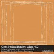 Clean Stitched Borders: White No. 02