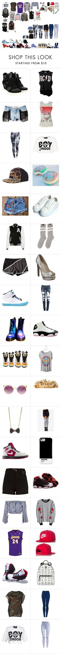 """""""Packing for Tour"""" by kaelighofficial ❤ liked on Polyvore featuring Ash, UNIF, Pull&Bear, BOY London, River Island, Cotton Candy, Boohoo, Modo, Flouzen and NIKE"""