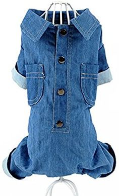 Amazon.com : MaruPet Soild Color Puppy Casual Dog Four-leg Jeans Overall Jumpsuit for Teddy, Pug, Chihuahua, Shih Tzu, Yorkshire Terriers, Papillon Navy : Pet Supplies