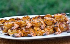 Grilled Shrimp Skewers with Tomato, Garlic & Herbs Recipe on Yummly. Shrimp Recipes Easy, Kebab Recipes, Grilling Recipes, Fish Recipes, Seafood Recipes, Cooking Recipes, Healthy Recipes, Recipies, Grilled Shrimp Skewers