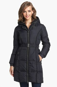 DKNY Hooded Down & Feather Coat with Fleece Insert (Online Only) available at #Nordstrom