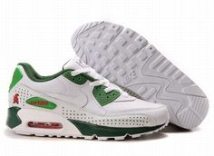 https://www.kengriffeyshoes.com/nike-air-max-90-white-green-red-p-625.html Only$70.66 #NIKE AIR MAX 90 WHITE GREEN RED #Free #Shipping!