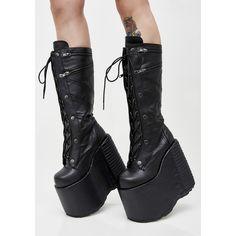6c12c33eed2 Demonia Underworld Platform Boots cuz you re the queen of darkness. These  insane boots have thikk platform soles