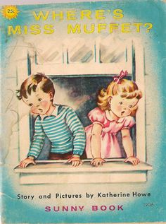 VINTAGE KIDS BOOK Where's Miss Muffet a Sunny Book by HazelCatkins, $10.00