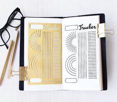 Brushed brass metal stencil for your planner or journaling.  Material: ------- 0.3mm Brass  Size:---------------4 x 7  Fits: Midori Regular Travelers Notebook  A5 Organizer/Notebook   INTERNATIONAL SHIPPING FEE:  US$2.50 for the first item and US$1.00 for each additional item (Airmail without tracking)  Shipping Upgrade: Additional US$2.00 for Airmail WITH Tracking.  Delivery time: Approx. 7 -21 days