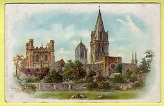 Oxfordshire-Oxford-Christ-Church-Cathedral-Tuck-Undivided-Back-Postcard