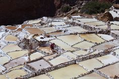 Paradero Maras - Moray, Peru — by Jeannette Ramos. Maras Salt mines Located in the Sacred Valley Cusco Peru Salt evaporation ponds in use since Inca times #colorful