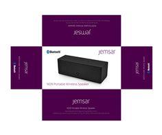 Packaging Design (Design #2610394) submitted to Jemsar Digital speaker packaging…