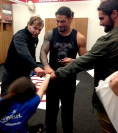The Shield grants their first wish with Jessie, of Make-A-Wish. Wwe Dean Ambrose, R Truth, The Shield Wwe, Solo Pics, Jeff Hardy, Wrestling Divas, Seth Rollins, Professional Wrestling, Roman Reigns
