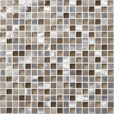American Olean�Delfino Metals Tropical Beach Metal Mosaic Square Wall Tile (Common: 12-in x 12-in; Actual: 11.75-in x 11.75-in)